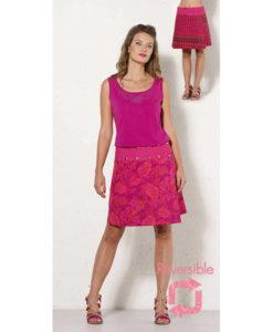 Boho Vintage Floral Reversible Skirt