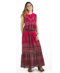 Long Vintage Boho Hippie Maxi Dress