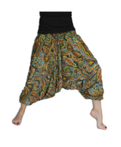 Bold-Paisley-Hippy-Harem-Pants-Green