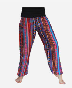 Bright-Hippy-straight-leg-harem-pants