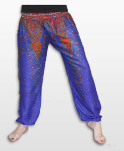 Feather Design Straight Leg Harem Pants BL